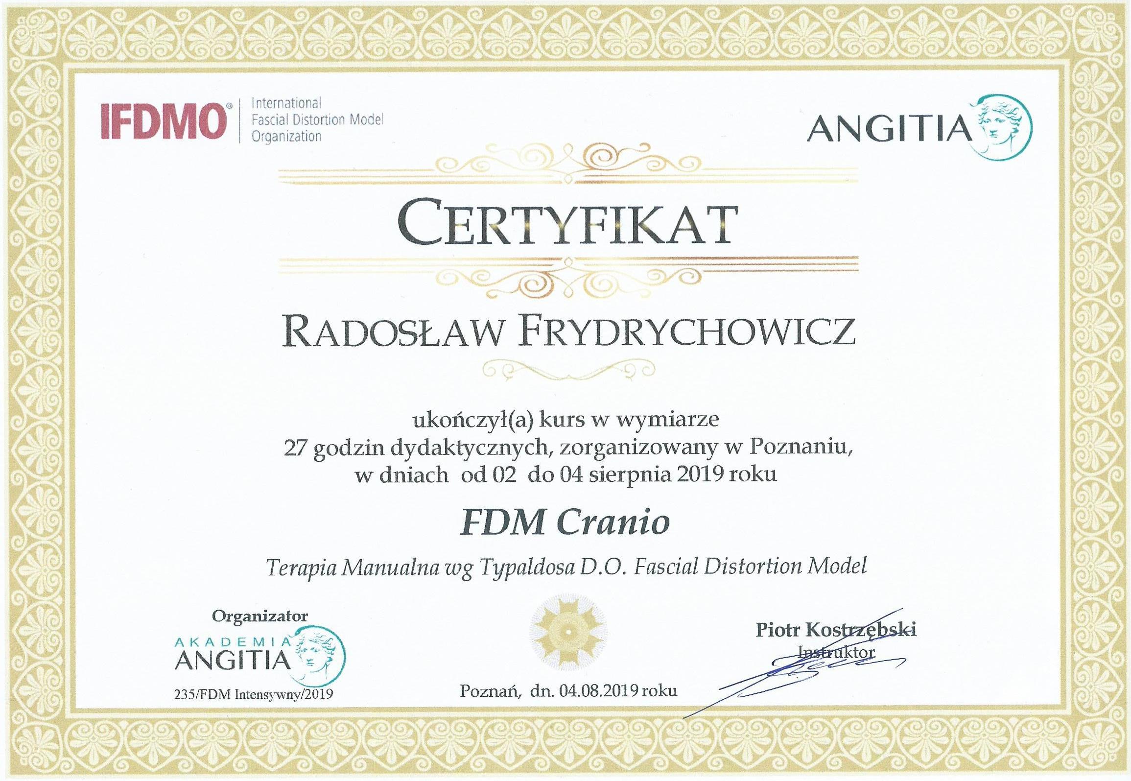 FDM-Cranio-certyfikat